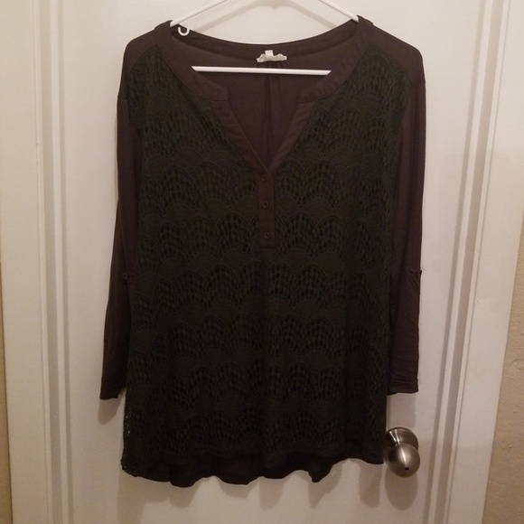 3bfb8c33708ecc Siren Lily Tops   Lace Front Pullover Blouse   Poshmark
